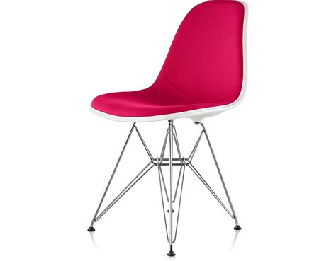 eames upholstered side chair eames 174 upholstered side chair with wire base hivemodern