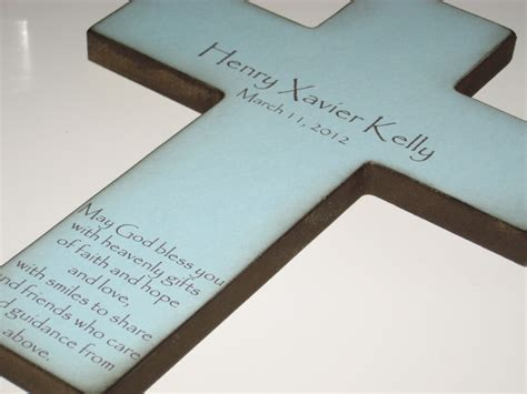 7 Beautiful Christening Gifts by Personalized Christian Cross With Poem Beautiful Baptism Gift