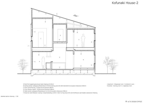 detailed section drawing aeccafe archshowcase