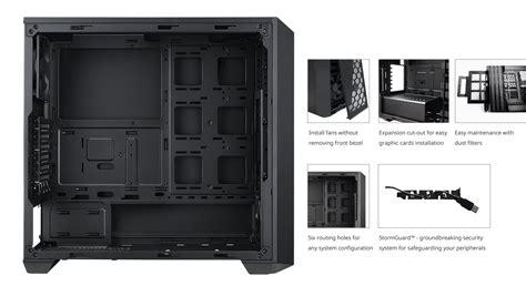 Cooler Master Masterbox 5 masterbox 5 black with meshflow front panel cooler master