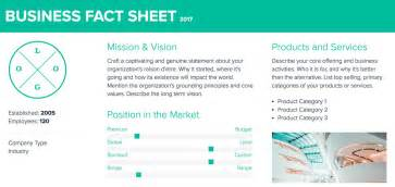 Company Fact Sheet Template by Xtensio How To Create A Fact Sheet
