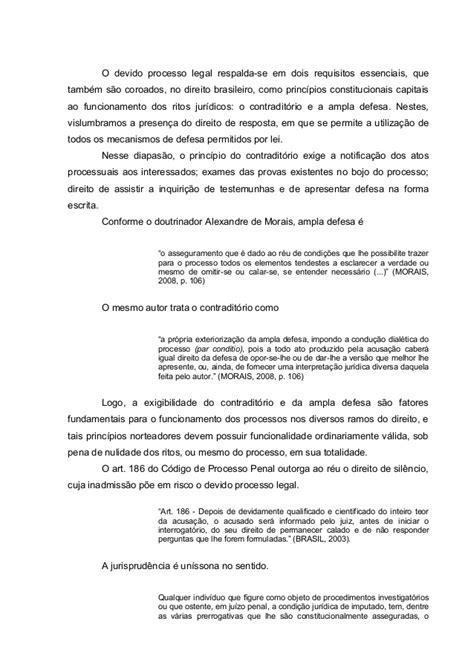 Direito constitucional. Devido Processo Legal