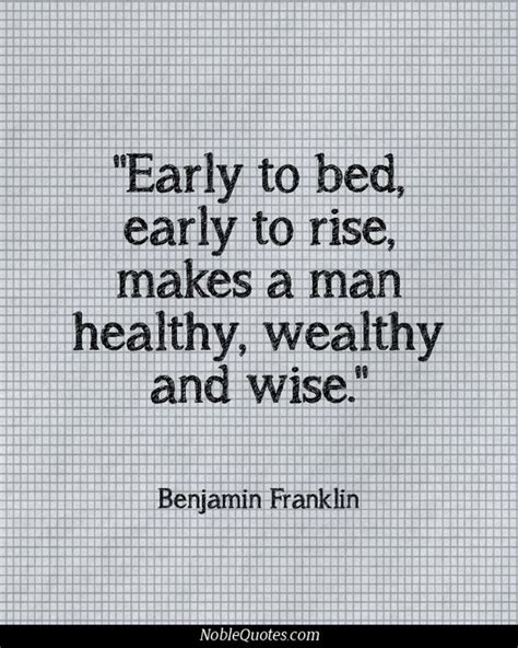 early to bed early to rise makes a man quot early to bed early to rise makes a man healthy wealthy