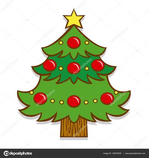 imagenes animadas de arbolitos de navidad 193 rbol de navidad de dibujos animados aislados sobre fondo