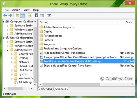 Unable To Access Pc Settings In Windows 8 1 Microsoft | fix unable to access pc settings control panel in