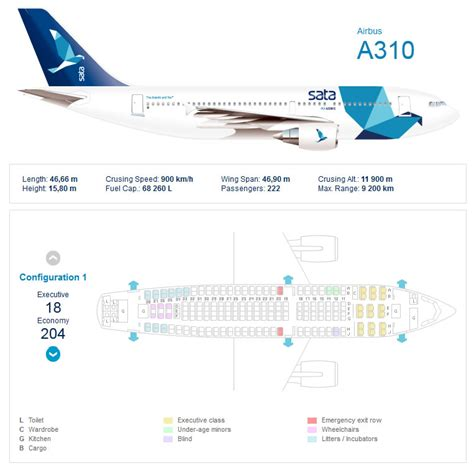 airbus a310 300 seating sata airlines aircraft seatmaps airline seating maps and
