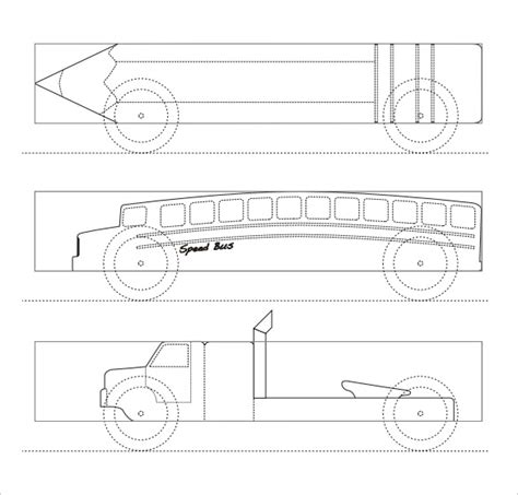 free pinewood derby templates printable 21 cool pinewood derby templates free sle exle