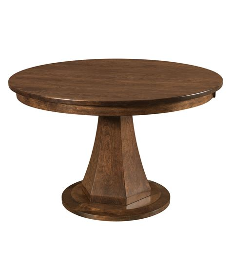 emerson dining table emerson single pedestal table amish direct furniture