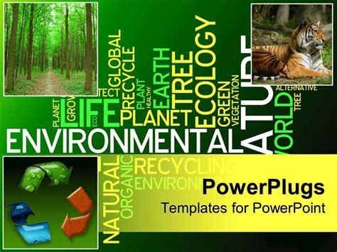 powerpoint templates free ecology powerpoint template ecology collage with recycle symbol