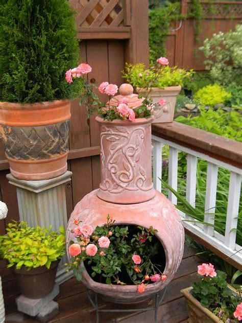 chiminea planter repurpose a chiminea into a planter crafts diy how to