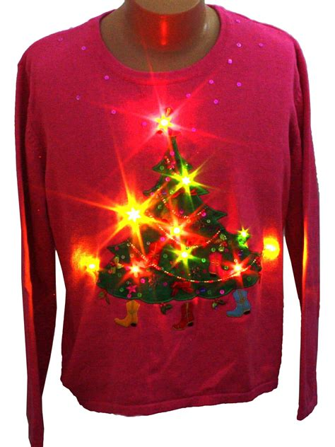 womens light up ugly christmas sweater bobbie bell