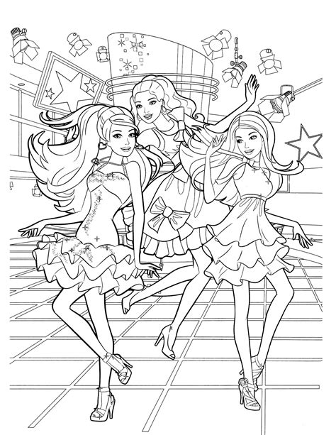 super barbie coloring page barbie 45 coloringcolor com
