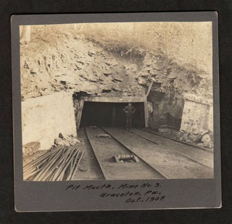 pennsylvania coal minermine entrance cabinet photo