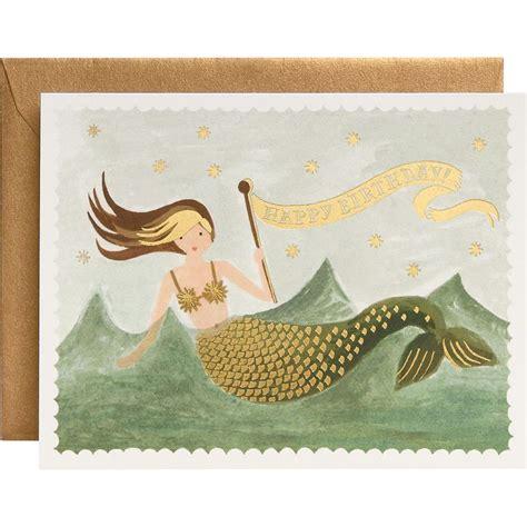 printable birthday cards mermaid vintage mermaid birthday card