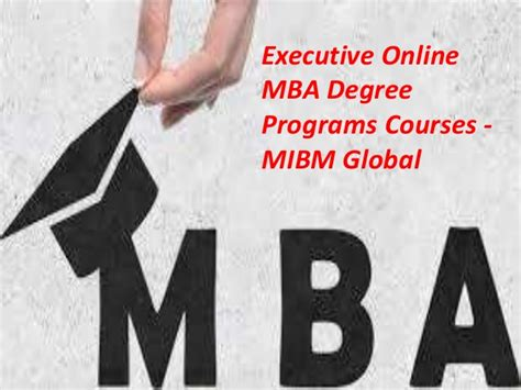 Executive Mba Subjects by Executive Mba Degree Programs Courses In A