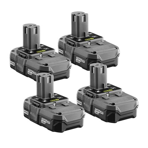 ryobi 18 volt one compact lithium ion battery 4 pack