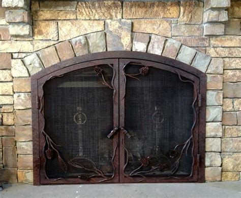 Pine Cones In Fireplace by Pine Cone Fireplace Screen Frontier Iron Works