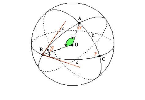 quanto misurano gli angoli interni di un triangolo eccesso sferico si definisce eccesso sferico la differenza