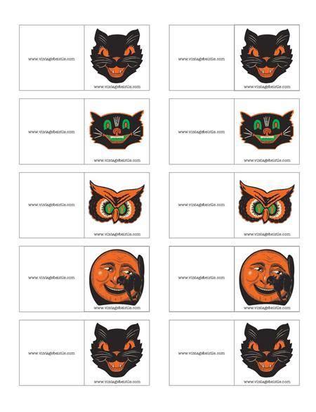 free printable name tags halloween free vintage halloween name tags halloween pinterest