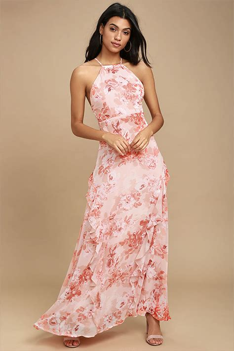 Floral Dress Santai Pink lovely pink dress floral print dress maxi dress 84 00