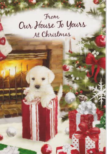 braille   home    christmas dog personalised braille xmas cards