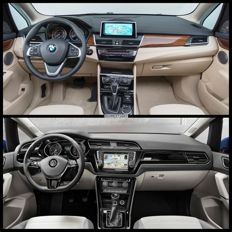 bmw volkswagen photo comparison volkswagen touran vs bmw 2 series gran