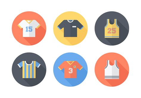 sports jersey vector icons   vectors