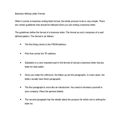 Business Letter Essay by Business Letters Format 15 Free Documents In Pdf Word