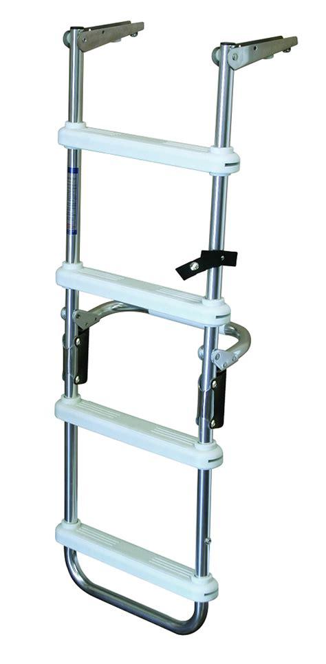 pontoon steps jif marine 4 step folding pontoon ladder with flush mount