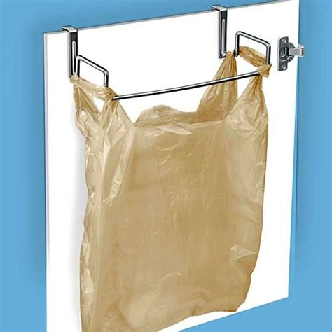 cabinet door trash bag holder for the kitchen