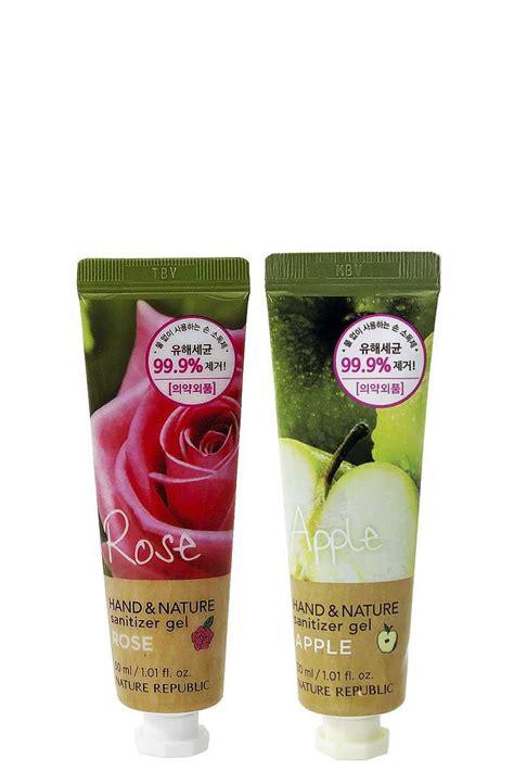 na sanitizer tube rose nature republic scented sanitizer gel tube