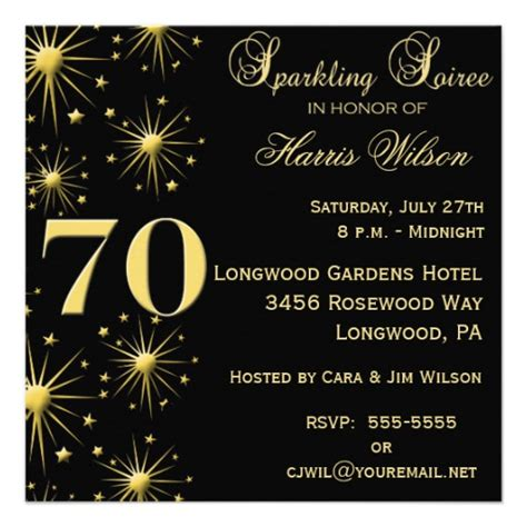 70th Birthday Invitation Templates 70th birthday invitations zazzle