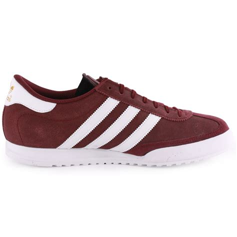 maroon adidas shoes adidas beckenbauer mens leather suede maroon trainers