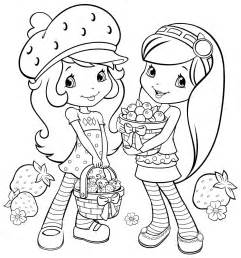 strawberry shortcake friends coloring pages kids coloring
