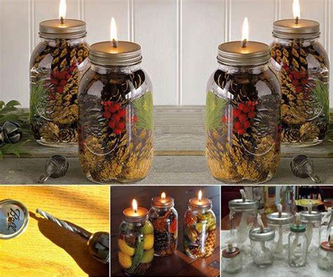 creative ideas diy mason jar oil candles