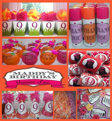 birthday themes for nine year olds hawaiian party birthday party ideas photo 1 of 25