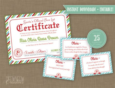 printable elf on the shelf certificate editable printable elf bundle elf letters elf envelope