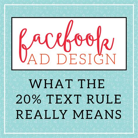 design rule meaning what facebook s 20 text rule really means for facebook