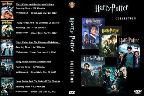 Dvd Harry Potter Collection covers box sk harry potter 1 5 collection high