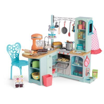 Doll Kitchen Set by Gourmet Kitchen Set Truly Me American