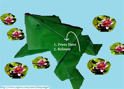 Origami Hopping Frog - paper crafts jumping frog
