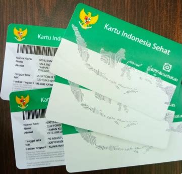mencetak kartu bpjs  id kartu indonesia sehat kis