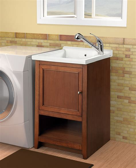 Laundry Room Sink And Cabinet Furniture Brilliant Utility Sink Cabinet For Home Design Ideas With Stainless Steel Utility