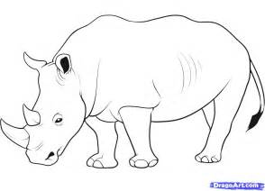 Trace Drawing Online How To Draw A Rhino Step By Step Great Plain Animals