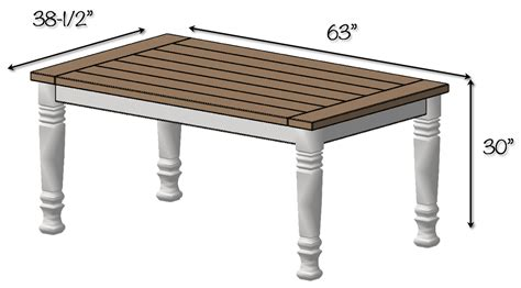 farmhouse table free plans rogue engineer