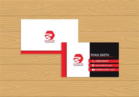 card name template vector name card template free vector free vector