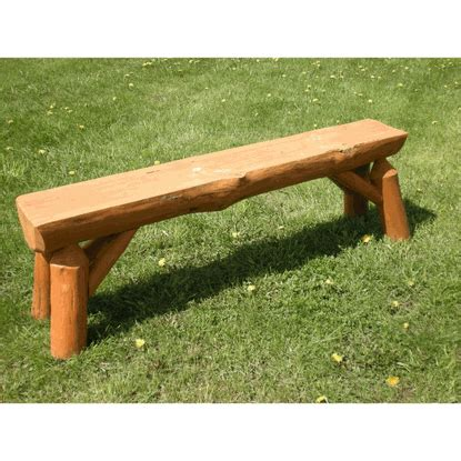 pine log bench twist of nature red pine log outdoor bench