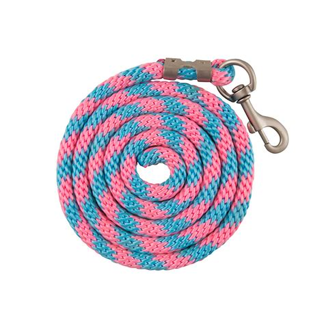 pink rope lead rope pink and light blue saddlery