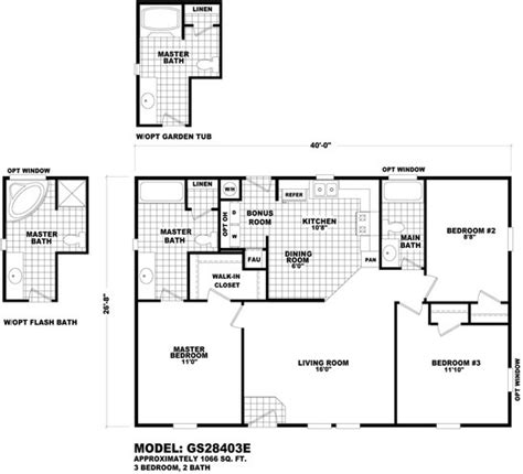 floor plan gs 28645a gs 28 32 wides homes by cavco