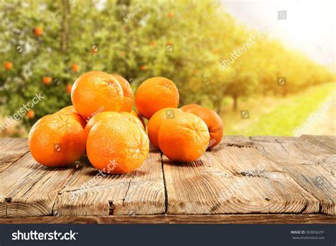 Orange Fruit Decoration by Table Orange Fruits Your Decoration Stock Photo 303656291